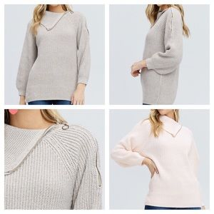 Sweaters - Khakis zip sweater